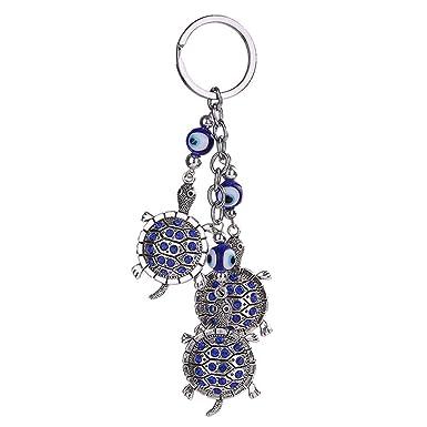 Republe Cristal Papillon Tortue Tour Blue Eye strass Porte-clef Sac  pendentif porte-clés 5fff131f9f3