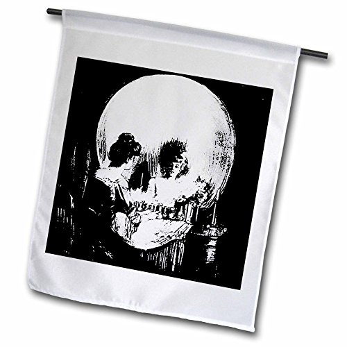 3dRose fl_18238_1 Halloween Optical Illusion Garden Flag, 12 by 18-Inch (One Of The Best Optical Illusion)