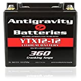 Antigravity Batteries YTX12-12 Lithium Motorsports Battery, OEM Replacement Series