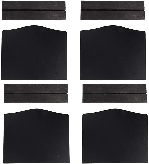 YIUS ホームホテルのバーのデスクトップの装飾のための4個/セットの革新的な両面ミニ黒板メッセージ飾り