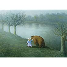 Laminated Little Girl with Bear Michael Sowa Poster Print 28x20