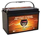 Vmaxtanks SLR125 AGM 12V 125ah Battery for Solar Wind Power Emergency Backup Generator PV panel or Charger AGM 12V VMAX Battery (12 Volt 125Ah Group 31 AGM Solar Battery)