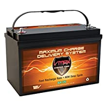 Vmaxtanks VMAXSLR125 AGM 12V 125Ah SLA Rechargeable Deep Cycle Battery REPLACES Basement Watchdog 30HDC140S BATTERY (12 Volt 125Ah Group 31 Maintenence Free AGM Battery)