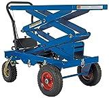 Vestil CART-PN-600-D Pneumatic Tire Cart, Double Scissor 600 lb. Capacity