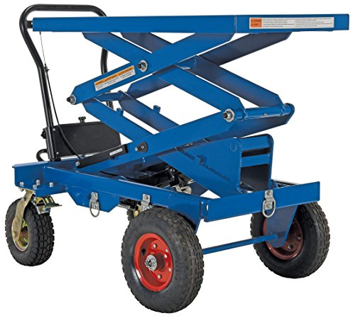 Vestil CART-PN-600-D Pneumatic Tire Cart, Double Scissor 600 lb. Capacity by Vestil