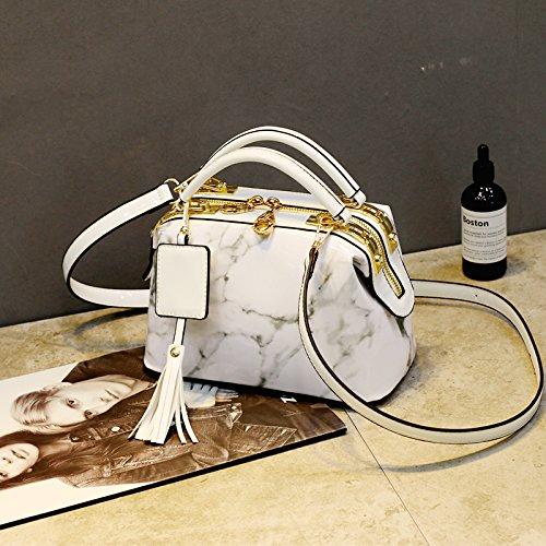 nouvelle version Weiß d'été la Sac sac de oreiller de CJshop de grande version d'épaule capacité sac women's jaunt grand la coréenne Boston p1txw0