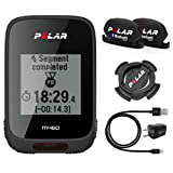 Polar M460 GPS Bike Computer with Polar Speed and Cadence Sensors and Wearable4U Wall Charging Adapter Bundle (Without Heart Rate Sensor)