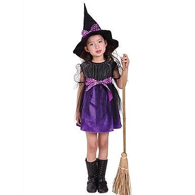 QinMM Mädchen Halloween kleidet Partei Kleider + Hut Outfit Von ...