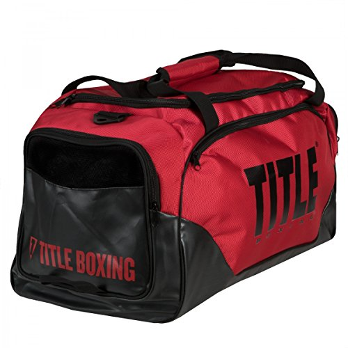 Rolling Vented Duffle - TITLE Valiant Super Equipment Bag, Red/Black