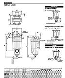 "SMC AMG350C-N04BC Water Separator, N.C. Auto Drain, 1,500 L/min, 1/2"" NPT, Mounting Bracket"