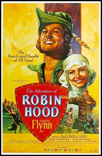 The Adventures of Robin Hood Fridge Magnet 2.5 x 3.5 Errol Flynn Magnetic Movie Poster