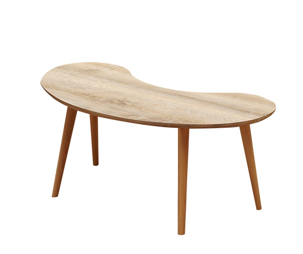 A-1105945CM Djyyh Oval Coffee Table, Coffee Table Living Room Creative Simple Wooden Negotiating Table Bedroom Size Number Combination (color   C-90  60  45CM)