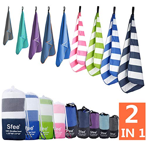 Sfee Microfiber Absorbent Lightweight Towels Fit