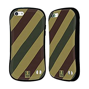 Head Case Designs Stripes WWII Panzer Camo Hybrid Gel Back Case for Apple iPhone 5c