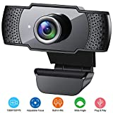 Webcam with Microphone, 1080P HD Streaming USB