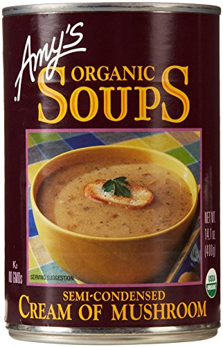 Organic Cream of Mushroom Soup by Amy's Kitchen, 14.1 Ounce