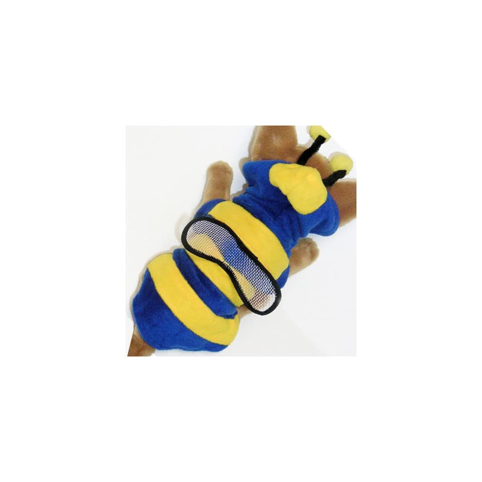 Blue Bumble BeeCostume Hoodie Jacket pet dog clothes APPAREL Chihuahua Teacups Miniature S