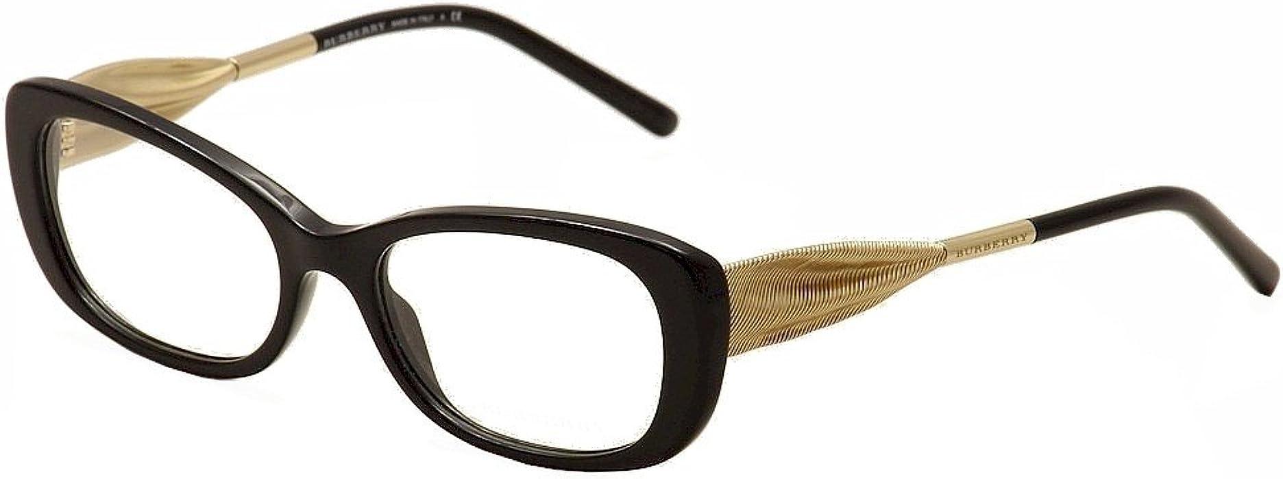 bd0ed00347c Burberry Women s BE2203 Eyeglasses Black 52mm at Amazon Women s ...