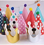 Sopeace 11 Pieces Happy Birthday Party Hats Polka Dot DIY Cute Handmade Cap Crown Shower Baby Decoration Boy Girl Gifts Supplie