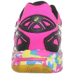 ASICS Women's GEL-Flashpoint Volleyball Shoe,Black/Neon Yellow/Hot Pink,9.5 M US