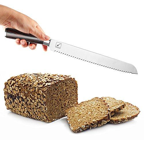 iMarku 10-Inch Pro Serrated Bread Cake Slicer Knife - Premium German Stainless Steel Bread Slicer by iMarku (Image #2)