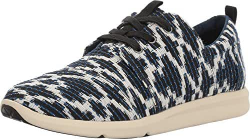 Toms - Del Rey Sneaker navy Tribal Jacquard Women's Lace Up Casual Shoes (10)