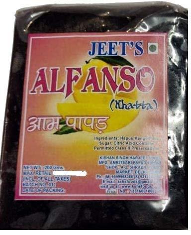 Jeet Alphanso Aam Papad Khatta - Pack of 2 - 400 GMS