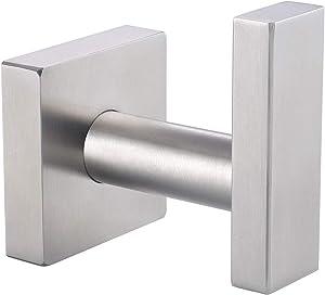 Bath Towel Hook, Angle Simple SUS304 Stainless Steel Square Hook, Heavy Duty Bathroom Hook, Hand Towel Rack, Kitchen Shower Towel Holder Hanger, Brushed Nickel