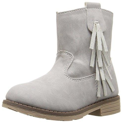 carter's Girls' Apache Boot, Grey, 9 M US Toddler