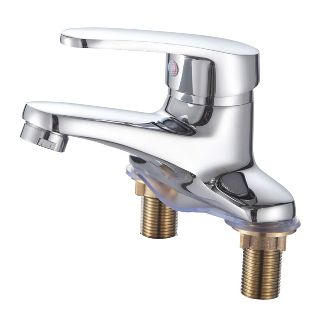Yxx max Bathroom Basin Mixer Hot and Cold Water Faucet Double Hole Wash Basin Faucet by Yxx max (Image #1)