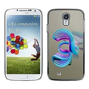 TopCaseStore / la caja del caucho duro de la cubierta de protección de la piel - Abstract Swirls - Samsung Galaxy S4 I9500