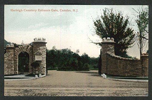 Harleigh Cemetery Entrance Gate Camden NJ postcard 1920s