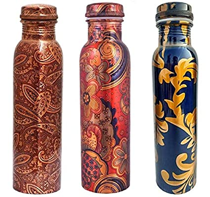 71d9a57ea59f Ayur Patra ShreeJee Mart Modern Art Printed Ayurvedic Copper Bottle ...