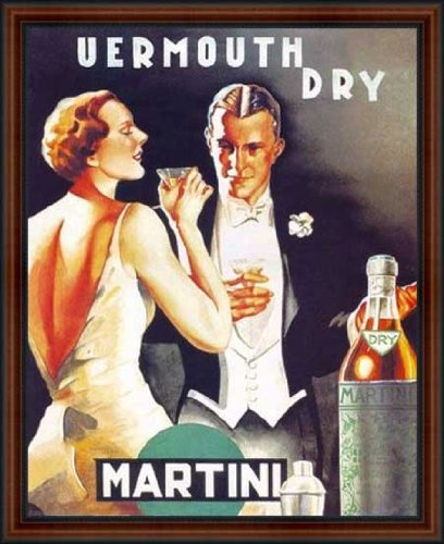 Vermouth Dry Martini 1930 By D Lubatti Framed Vintage Advertising Reproduction Poster Custom Made Real Wood Dark Walnut With Black Trim Frame 18 1 4 X 22 1 4 Buy Online In Aruba At Aruba Desertcart Com Productid 28369787