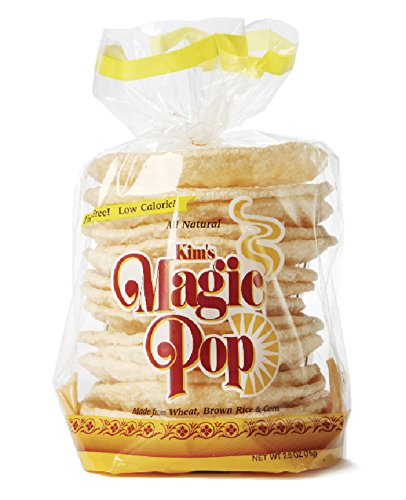 (Kim's Magic Pop Original Flavor 12-Pack: Freshly Popped Rice Cakes, Healthy Grain Snack, 0 Weight Watchers)