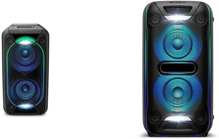 Sony GTKXB90 High Power Portable Bluetooth Speaker, Black & XB72 High Power Home Audio System with Bluetooth Technology (GTK-XB72), Black