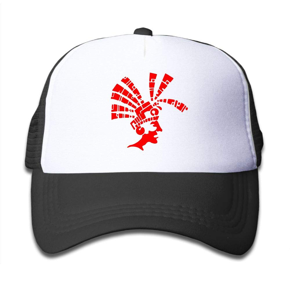 Clarissa Bertha Red Tribal Aztec Warrior Kids Boys' Girls' Baseball Caps Mesh Hats