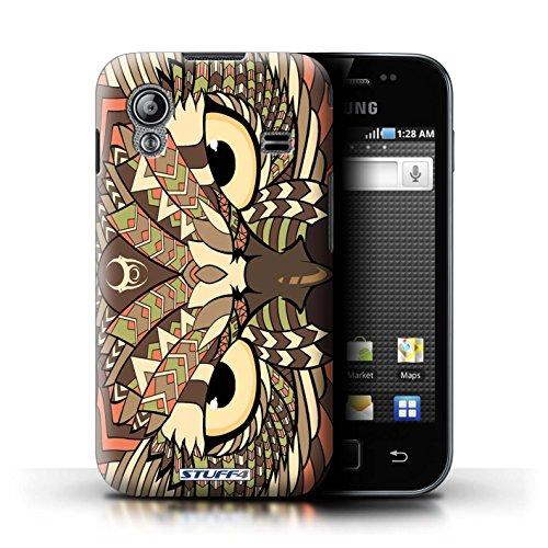 Stuff4 Hülle / Hülle für Samsung Galaxy Ace / Eule-Sepia Muster / Aztec Tier Muster Kollektion