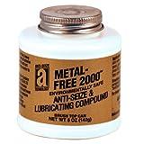METAL-FREE 2000 20005 Non-Metallic Environmentally Safe Anti-Seize Compound, 5 oz., Dark Gray, Paste