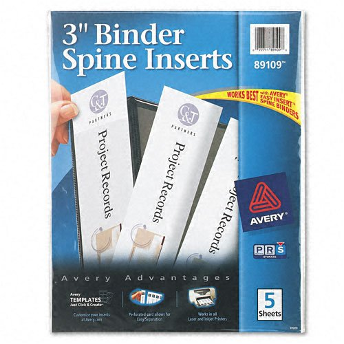 Avery : Custom Binder Spine Inserts, 3