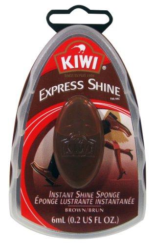 (KIWI Express Shine, Instant Shine Sponge, Brown, 0.23 oz (Pack of 3))