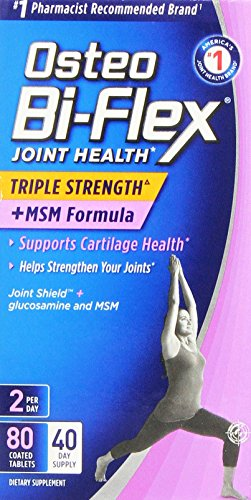 (Osteo BiFlex Triple Strength with MSM Formula, Supports Cartilage Health, 80 Count)