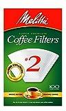 Melitta #2 Cone Filter Paper White 100 Count - 622712