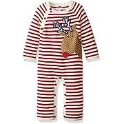 Mud Pie Baby Boys' One Piece Playwear Set, Reindeer Red, 3-6 Months