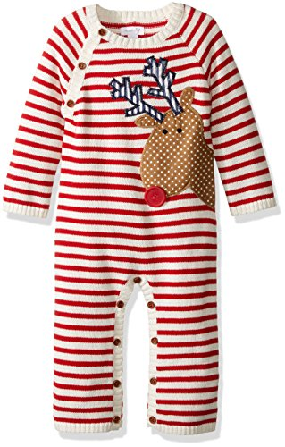 Mud Pie Reindeer (Mud Pie Baby Boys' One Piece Playwear Set, Reindeer Red, 6-9 Months)