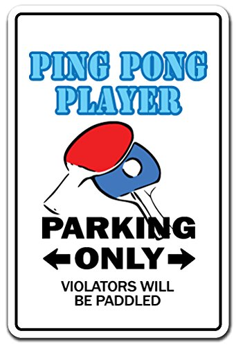 SignMission PING Pong Player Decal Table Tennis Ball Paddle Team Champion Champ | Indoor/Outdoor | 7
