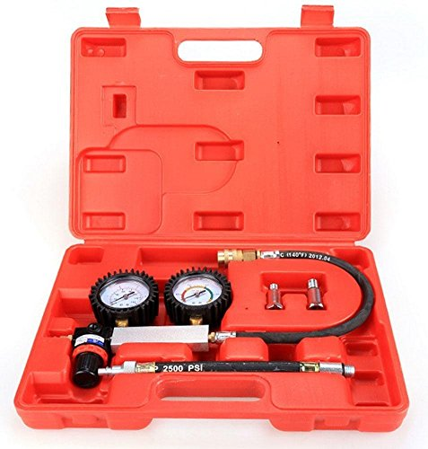 Kaluo Car Leak Detector, Petrol Engine Cylinder Compression Gauge Tester Leakdown Tool Set for Automotive by Kaluo