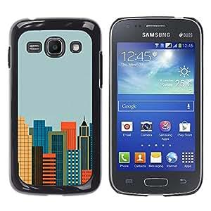 El Cosmopolitan City - Metal de aluminio y de plástico duro Caja del teléfono - Negro - Samsung Galaxy Ace 3