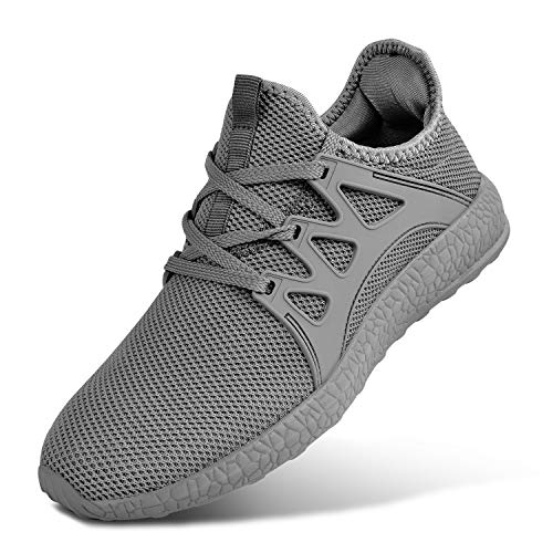 Walking Sale Grey Shoes (MARSVOVO Womens Fashion Sneakers Breathable Mesh Lightweight Gym Athletics Sports Running Grey Size 9)