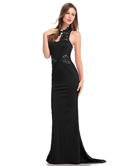KoJooin - Tailleur con abito - Corsetto - Basic - Donna nero L  Amazon.it   Abbigliamento df902696733